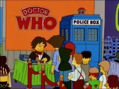"Doctor Who in ""The Simpsons""."