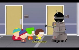 "Doctor Who in ""South Park""."